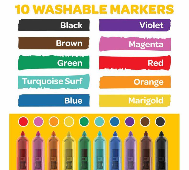 Super Clicks Retractable Markers, 10 Count