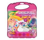Trolls Washable Paint & Paper Set