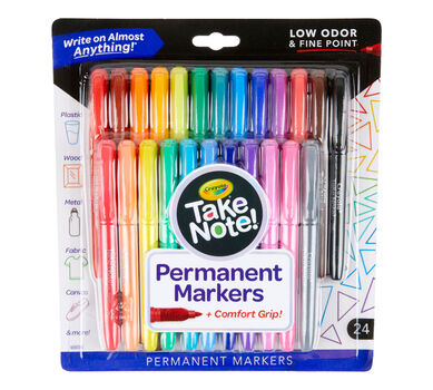 Take Note! Permanent Markers, 24 Count