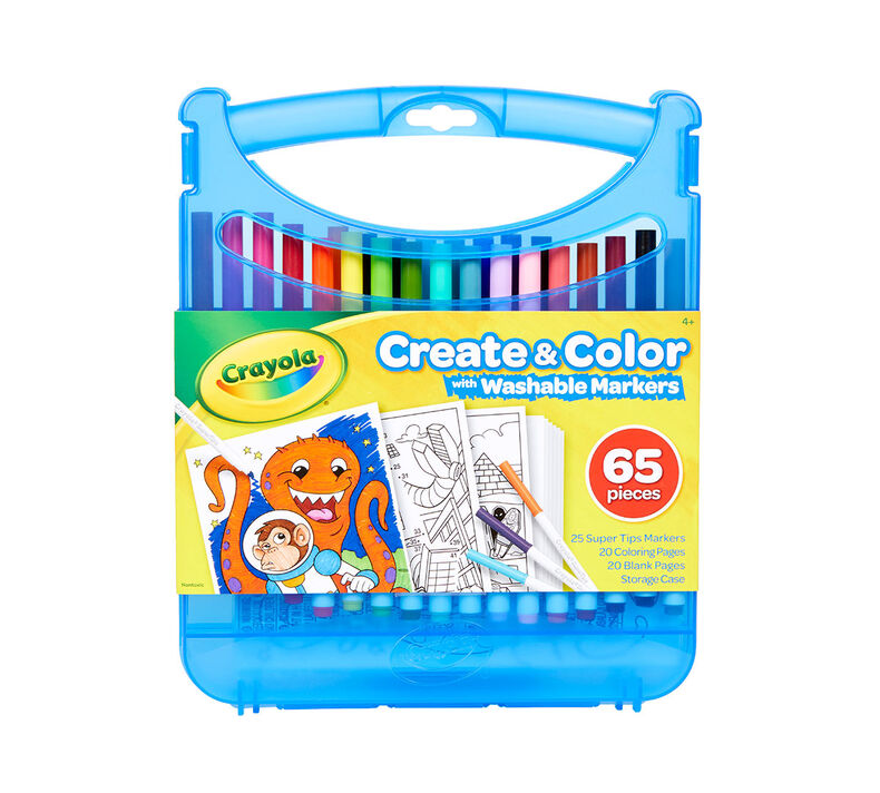 Create and Color with Super Tips Washable Markers