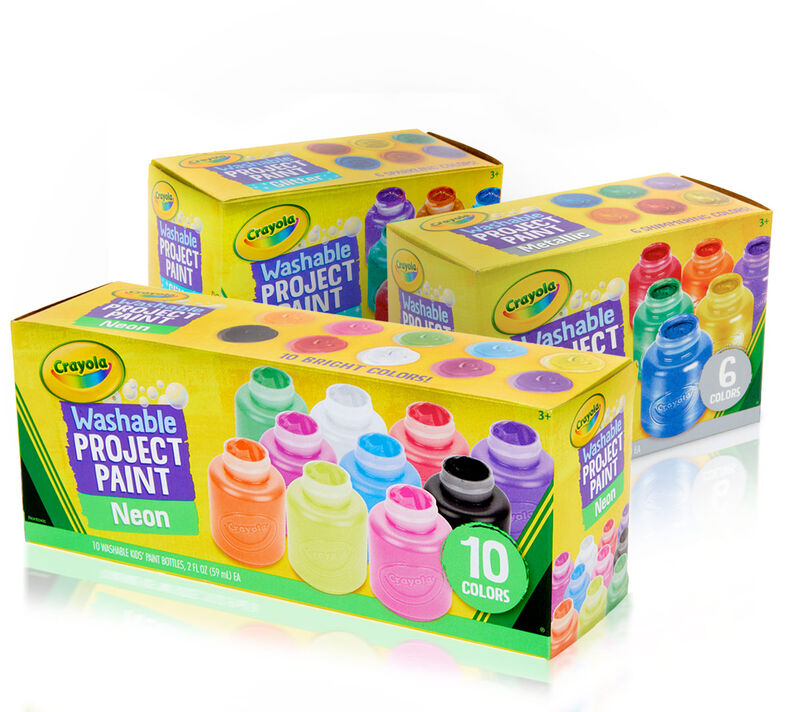 Washable Kids Paint Set- Glitter, Neon and Metallic Paints
