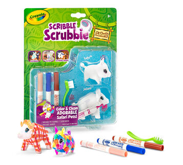 Scribble Scrubbie Safari Animals, Warthog & Buffalo 2ct.