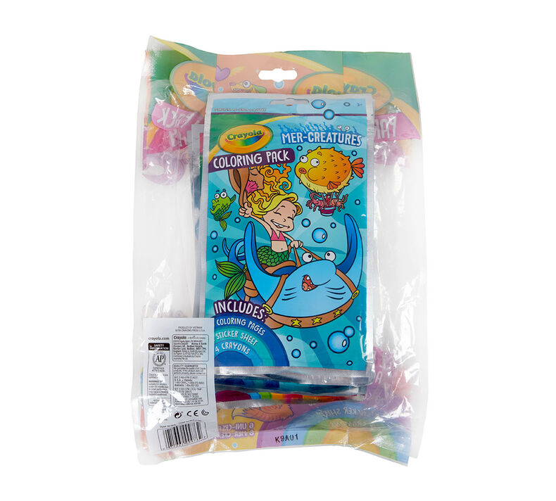Coloring Book Party Favors, Uni-Creatures & Mer-Creatures, 12 Count