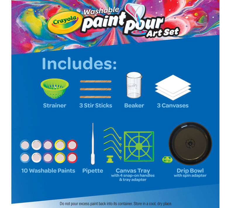 Washable Paint Pour Art Set