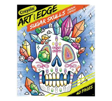 Art with Edge Sugar Skulls Coloring Book, Volume 3 Front View of Book
