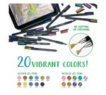 Signature Gel Pens & Colored Pencils Set