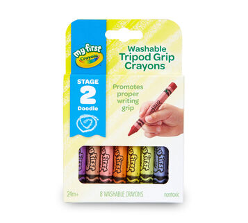 My First Washable Tripod Grip Crayons 8 count