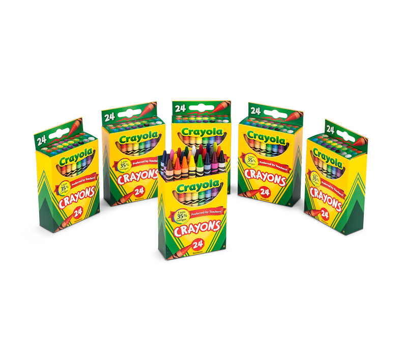 6 Box Classpack of 24 Count Crayons