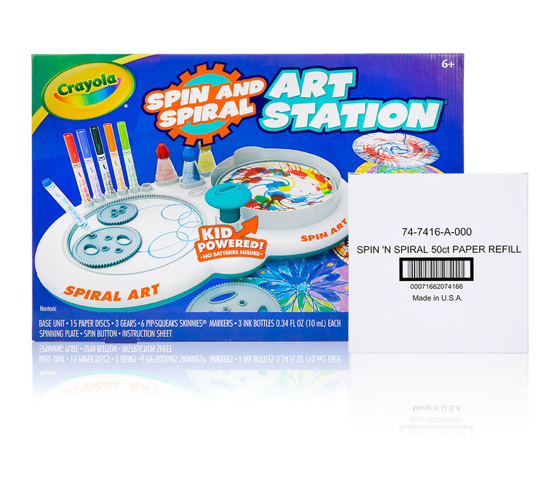 Spin & Spiral Art Station with Paper Refill Set