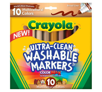 Ultra-Clean Markers, Broad Line, Multicultural, 10 ct.
