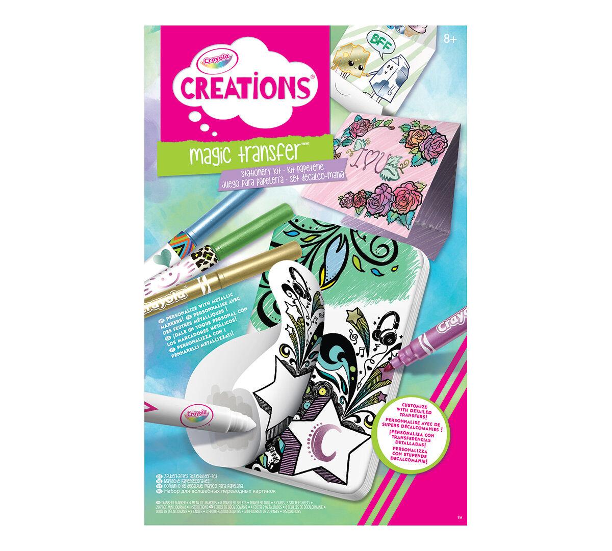 Crayola Creations Magic Transfer Stationery Set - Crayola