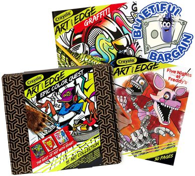 Art with Edge Coloring Book Pages Value Pack