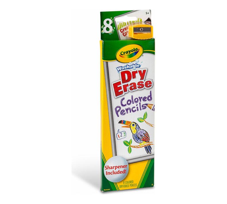 Washable Dry-Erase Colored Pencils