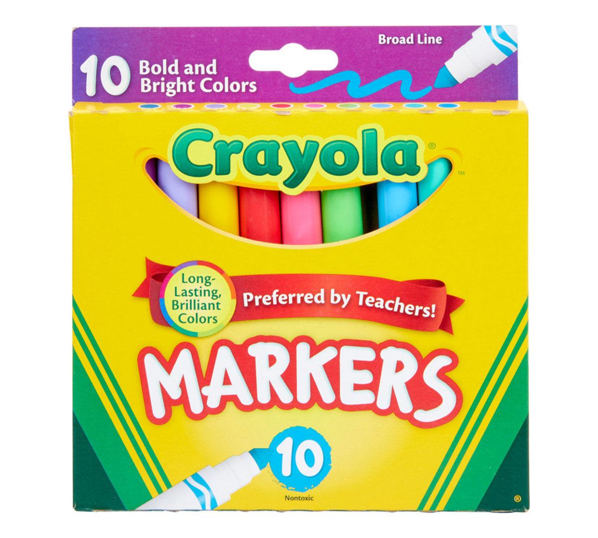 Washable Broadline Markers Rainbow Colors 10 Markers//Pack