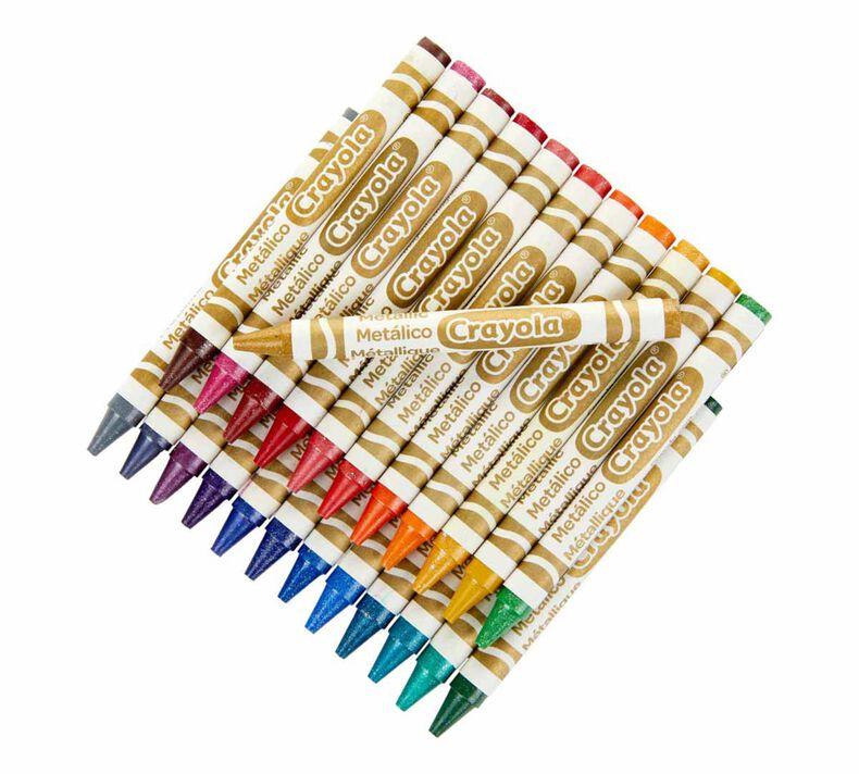 Metallic Crayons, 24 Count