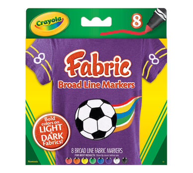 Broad Line Fabric Markers, 8 ct.