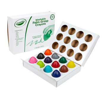 Palm Grasp Crayons 12 count in opened box
