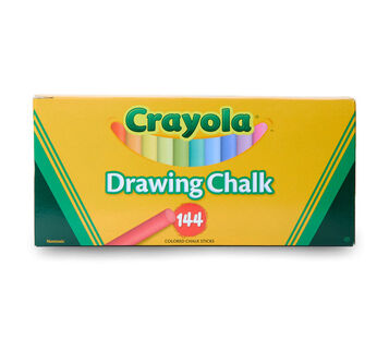 Crayola Drawing Chalk 144 count front