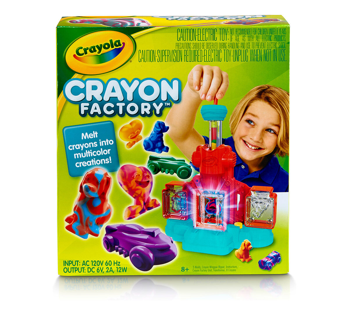 Create Your Own Crayola Stampers The Crayola Emoji Maker is a fun way to learn how markers and stampers are made while you make your own. Simply squeeze the included colored washable ink into the mixing vial and add a marker core to soak it up.