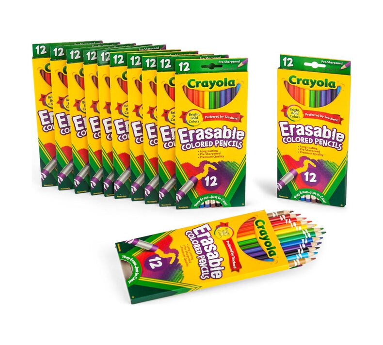 12 Box Classpack of 12 Count Erasable Colored Pencils