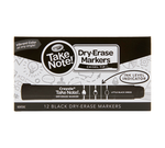 Take Note Black Dry Erase Markers, 12 Count