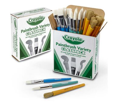 36 ct. Large Variety Paint Brushes Classpack