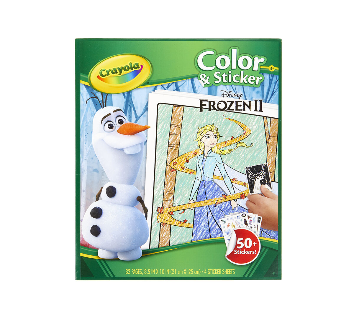 Frozen 2 Color Sticker Book With Jumbo Crayons