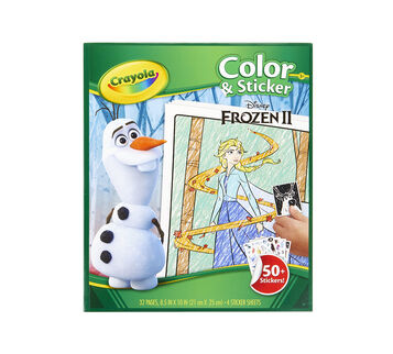 Frozen 2 Color and Sticker Book, Front View