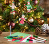 Elf Ornaments Craft Kit in use