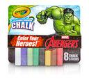 8 ct. Incredible Hulk Washable Sidewalk Chalk - Color Your Heroes!