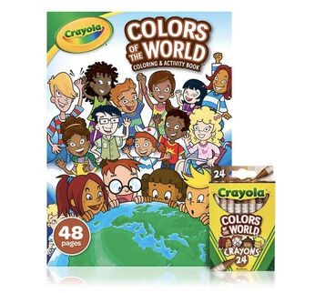 Colors of the World Coloring Book with Crayons