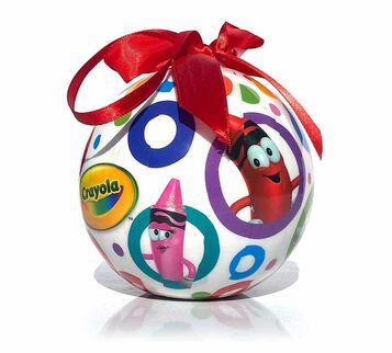 Crayola Crayon Plastic Ball Ornament