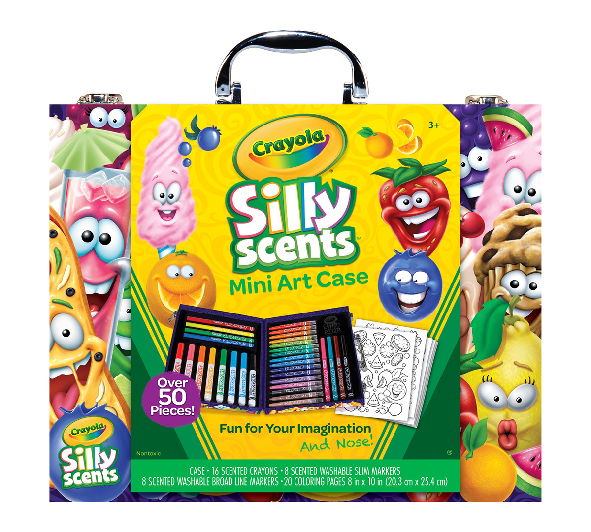 NEW Crayola Kids at Work 50 Piece Learn n Play Set Blocks Crayons Backpack Toy