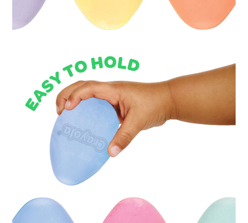 Egg Chalk, Mystery Colors, 6 Count