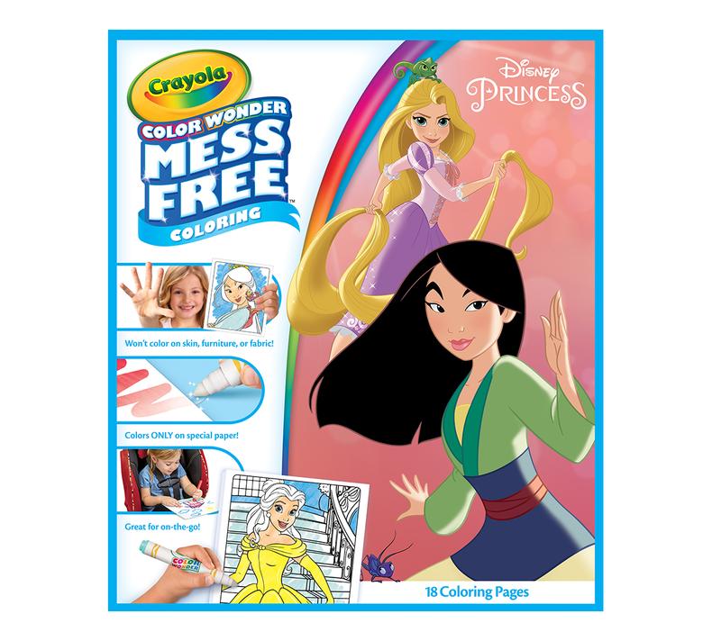Color Wonder Mess Free Coloring Pad & Markers, Disney Princess