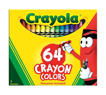 The Crayola Custom 64 Personalized Crayon Box Standard Colors