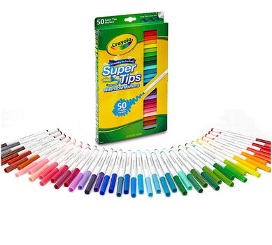 Washable Super Tips Markers, 50 Count