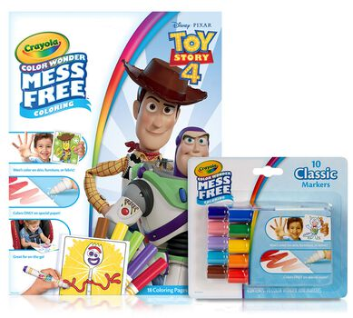 Toy Story 4 Color Wonder Coloring Set with Markers ...