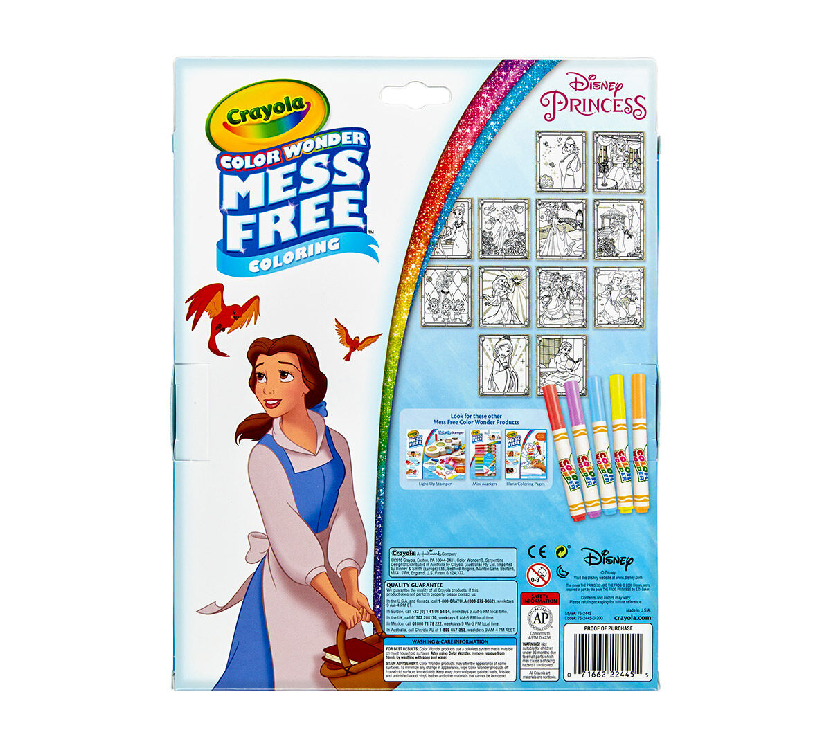 Color Wonder Glitter Paper and Markers Box Set Disney Princess - Crayola