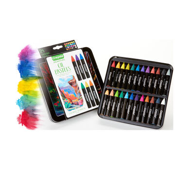 Signature Oil Pastels with Tin, 24 Count
