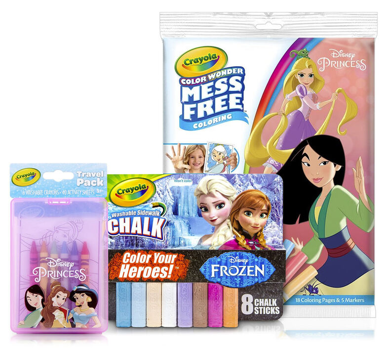 Disney Princess Gift Set Chalk Coloring Kit Crayola Com Crayola