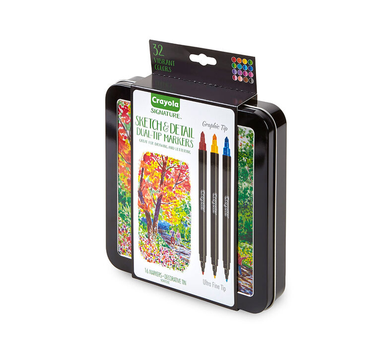 Signature Sketch & Detail Dual Ended Markers, 16 Count