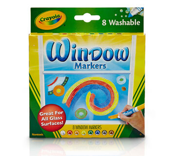 Crayola Window Markers Front of box