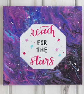 Galaxy Paint Canvas Craft