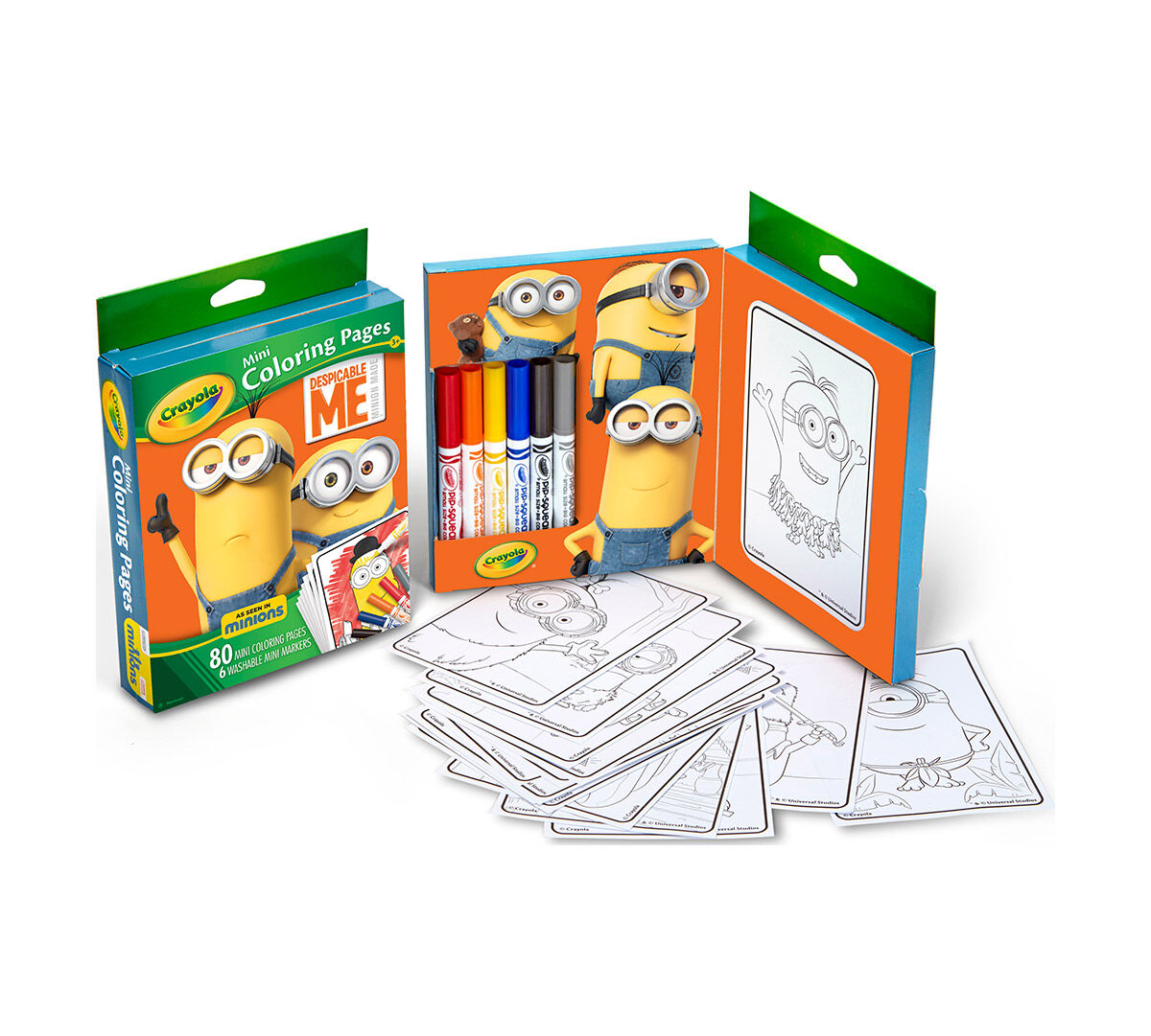 Crayola Mini Coloring Pages, Despicable Me edition, Art Activity ...
