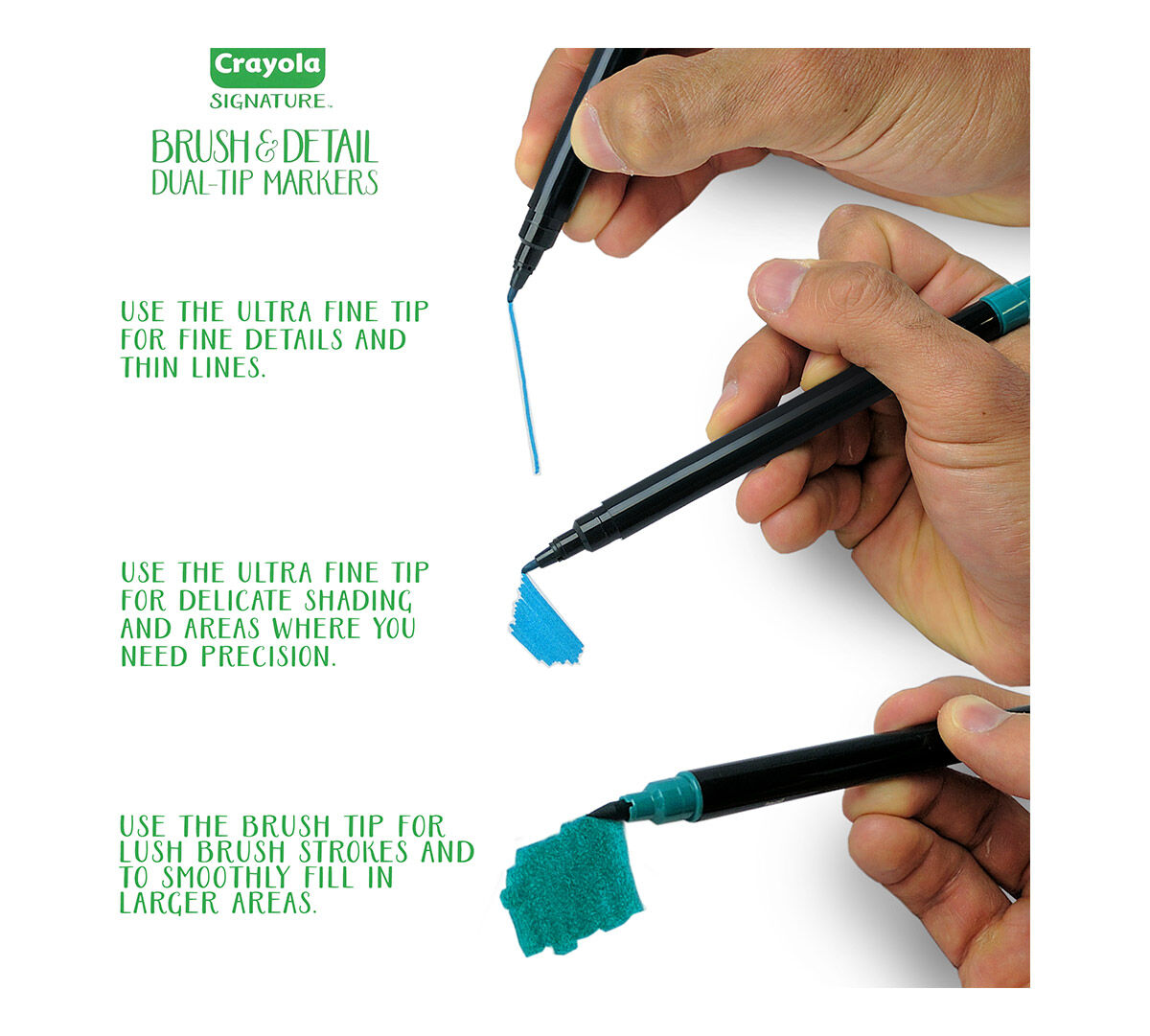 Brush Markers Dual Tip With Ultra Fine Marker Crayola Com