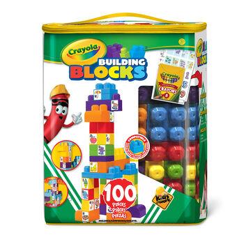 100 Piece Crayola Block Tote - Choose your Color