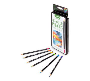 Tri Color 12 Count Colored Pencils- package and pencils