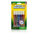 Washable Glitter Glue 5 count-front of package