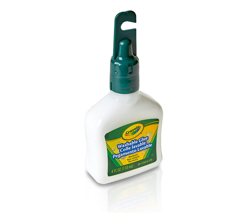 Washable No-Run School Glue,  4-oz.